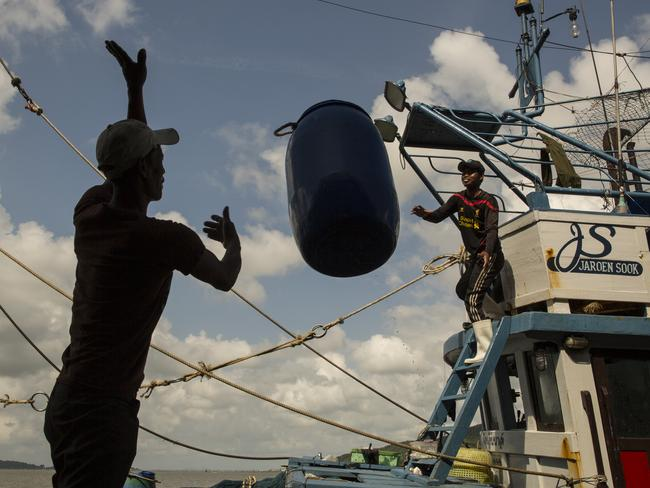 About 100 people have been arrested by Thai authorities last year in recent crackdown on slavery in the country's multi-billion dollar seafood industry, which supplies Australian supermarkets. Picture: Paula Bronstein