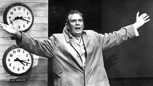 Actor Peter Finch in Network in the role that won Australia its first best actor Oscar.