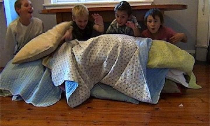 Build a pillow fort cubby
