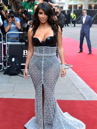 Bondage chic ... Kim Kardashian's dress had fashion critics divided. Picture: Getty Images