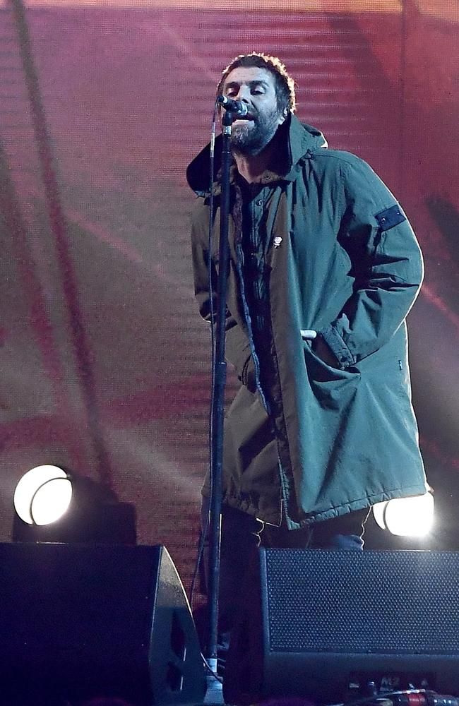 Liam Gallagher performs at The BRIT Awards 2018 in London. Picture: Gareth Cattermole/Getty Images