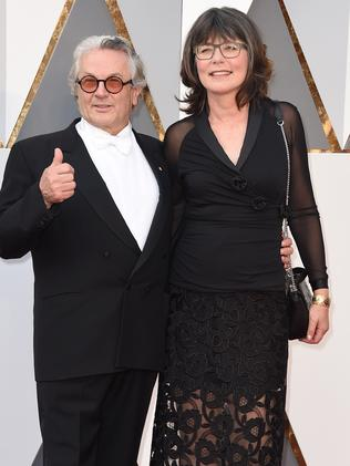 George Miller and wife Margaret Sixel arrive at the Oscars.