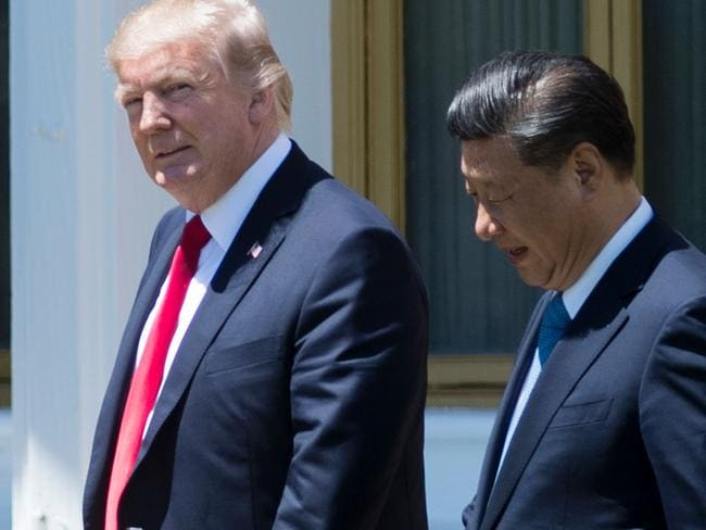 US President Donald Trump gave the green light on the missile strike ahead of dinner with China's President Xi Jinping. Picture: AFP.
