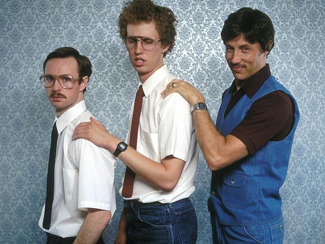 Aaron Ruell (Kip), Jon Heder (Napoleon) and Jon Gries (Uncle Rico) pose for a creepy family portrait.