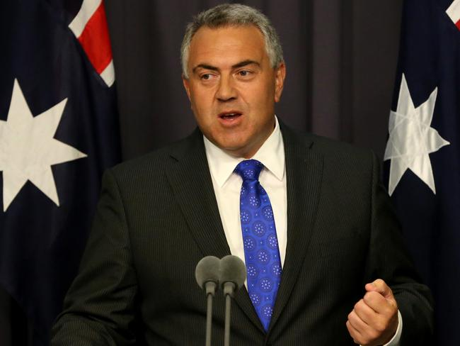 Good news ... Treasurer Joe Hockey said the government is working hard to take the pressure off interest rates. Picture: Supplied.