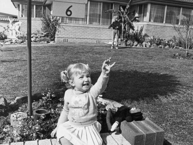 Peta pictured as a child at home in Australia.
