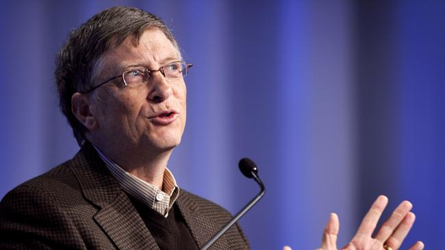 Microsoft founder Bill Gates went on to become one of the world's most important philanthropists after the birth of his daughter. Picture: Fabrice Coffrini.