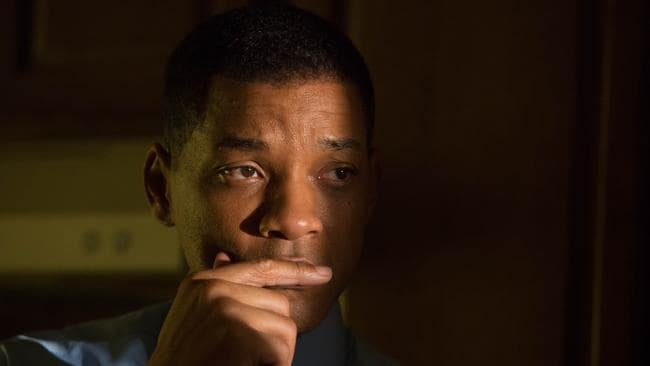 In Concussion, Will Smith plays Dr Bennet Omalu, who was the first to publish findings of chronic traumatic encephalopathy in NFL players. Picture: Melinda Sue Gordon/Columbia Pictures
