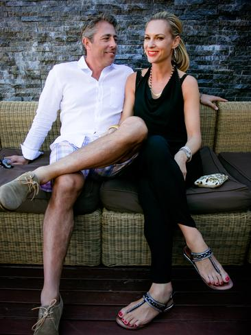 Steve and Melissa Rosich at the Hawaiian Group Lunch at Cable Beach Resort and Spa. Picture: Brett Barnett