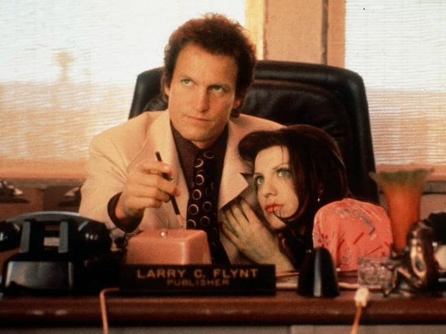 "Milos Forman directed ""The People vs. Larry Flynt"" starring Woody Harrelson and Courtney Love. Picture: File"