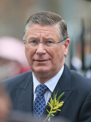 Victorian Premier Denis Napthine attends the service. Picture: Getty Images