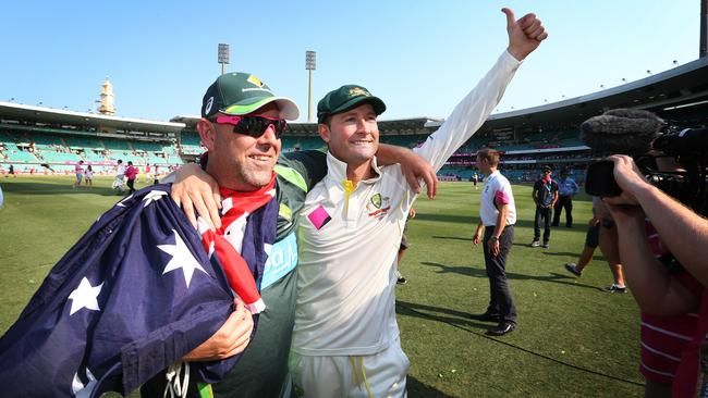 There appears to be some friction between coach Darren Lehmann and captain Michael Clarke. Picture: Phil Hillyard.