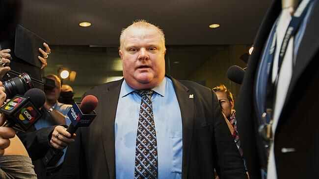 "Rob Ford recently admitted that he smoked crack cocaine in a ""drunken stupor"". Picture: AFP"