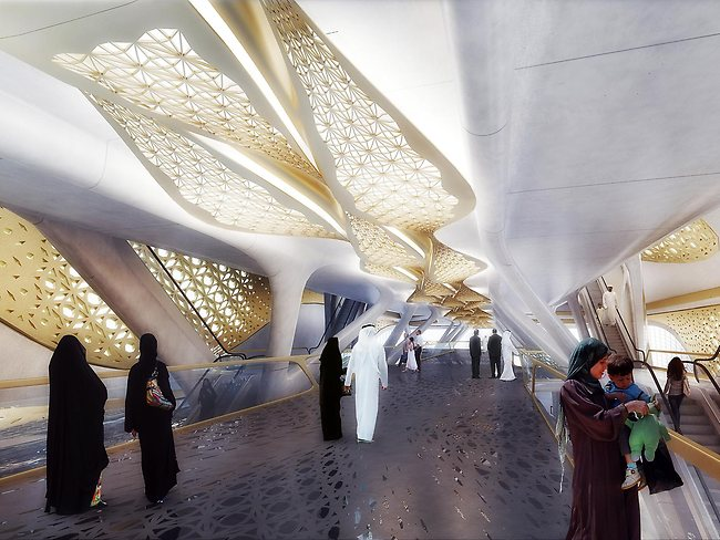It's a far cry from the grimy underground networks in many countries. Picture: Zaha Hadid