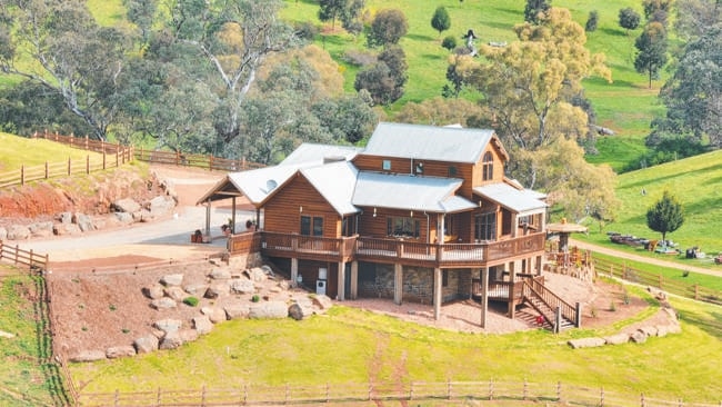 Aerial view of Lot 106 Starrs Gully Rd, One Tree Hill. Picture: Brad Griffin, Toop&Toop