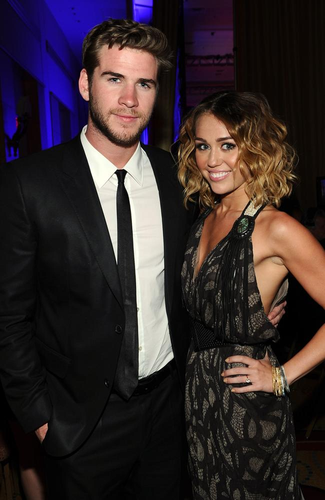 Rekindled romance ... Miley Cyrus and Liam Hemsworth are back together. Picture: Michael Buckner/Getty Images for CFN