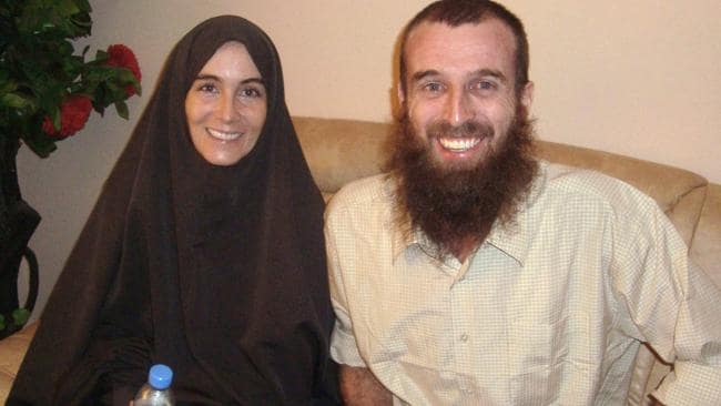 Amanda Lindhout and Australian Nigel Brennan, in Mogadishu, Somalia, after being freed.