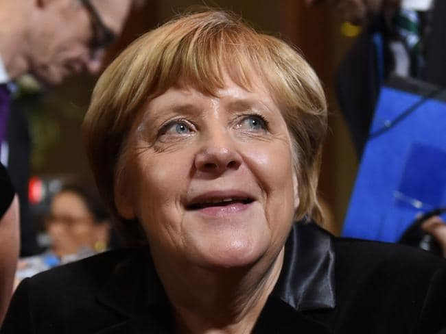 German Chancellor Angela Merkel offered Trump co-operation ... but with conditions attached. Picture: AFP/Christof Stache