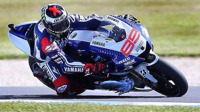 Jorge Lorenzo captures the Australian MotoGP victory.