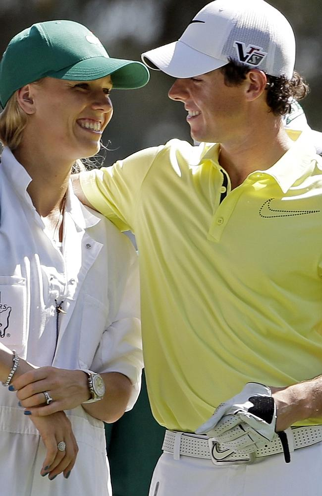 Not together: Rory McIlroy broke off his engagement to Caroline Wozniacki only days after sending out wedding invitations. Picture: AP