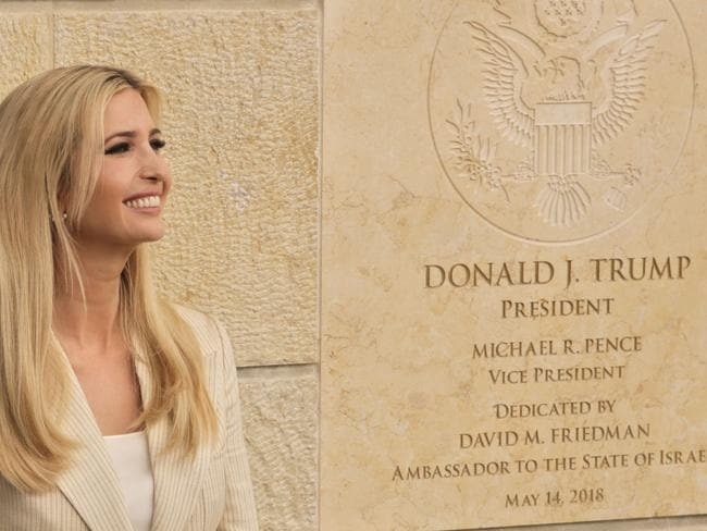 Mr Trump rated his daughter Ivanka's looks a ten, according to DJ Howard Stern, calling her a 'great beauty'. Picture: AP Photo/Sebastian Scheiner