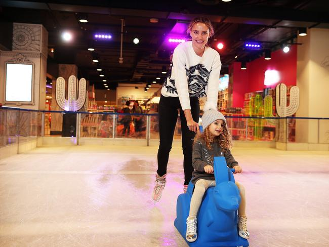Myer's Winter Wonderland ice skating rink was a hit at its Sydney CBD store. Picture: Tim Hunter.