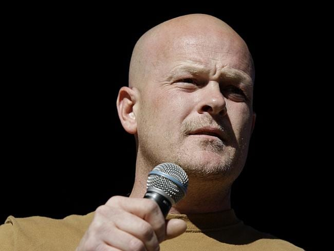 In this 30/10/2008 file photo, Samuel 'Joe The Plumber' Wurzelbacher speaks at a rally for Republican presidential candidate...