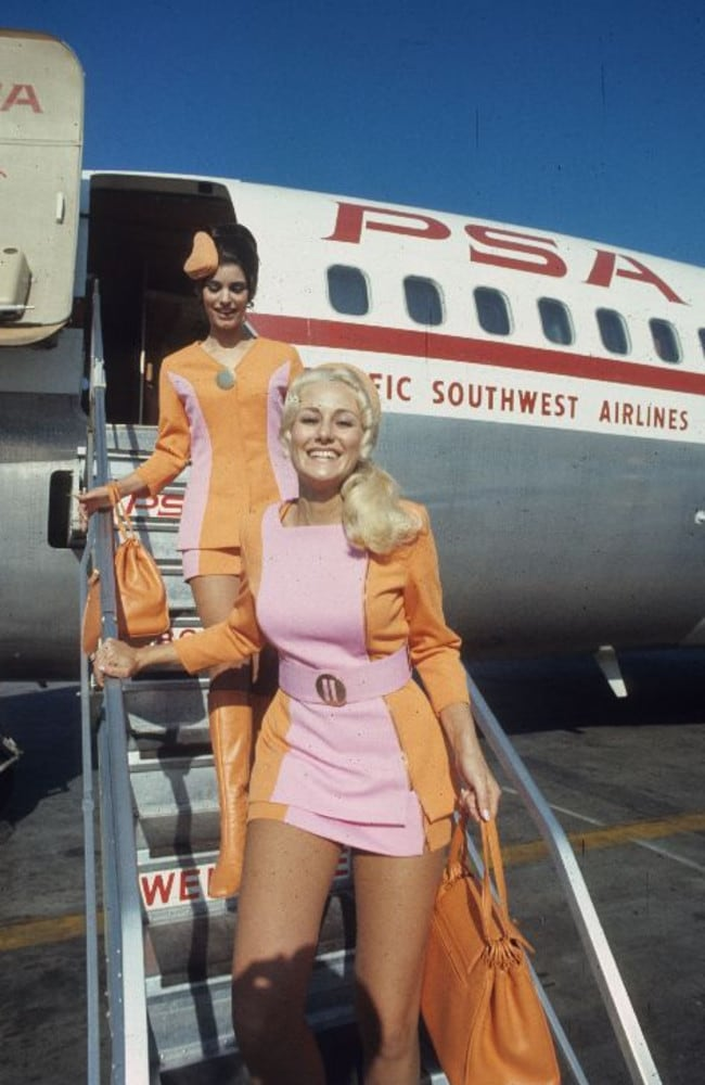 Stewardesses were subject to weigh-ins and could be fired for putting on weight. Photo: San Diego Air & Space Museum