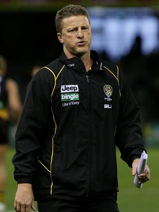 Jack Riewoldt can be hard work for a coach, but Damien Hardwick loved his game against Port. Picture: Colleen Petch