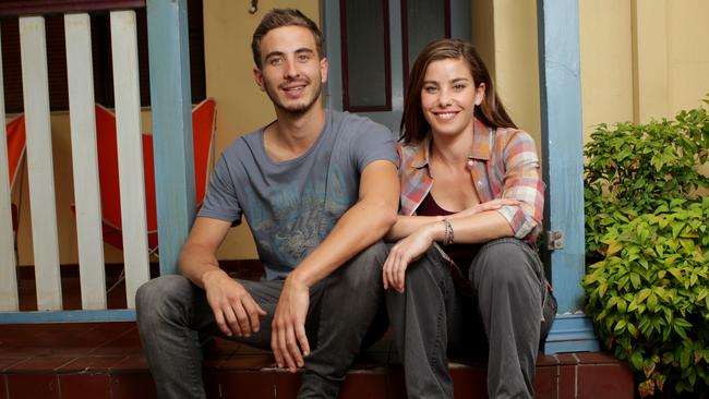 Famous co-stars ... Ryan Corr, pictured with actress Brooke Satchwell, became a household name thanks to his part in hit Channel Seven series Packed to the Rafters.