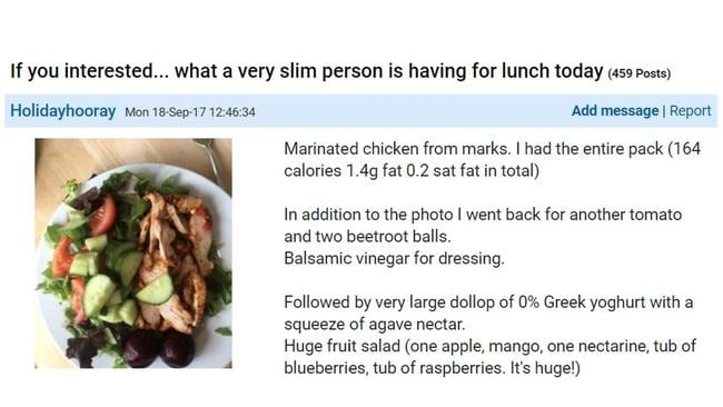 A Mumsnet user has been hilariously trolled after posting a picture of her 'smug' salad. Source: Mumsnet