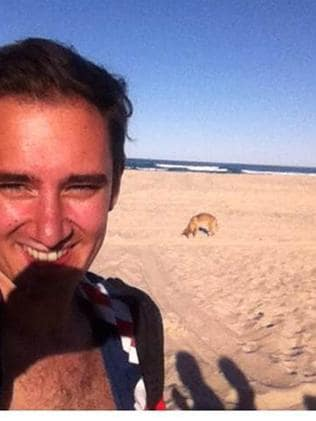 Instagram pictures of people on Fraser Island with dingoes.