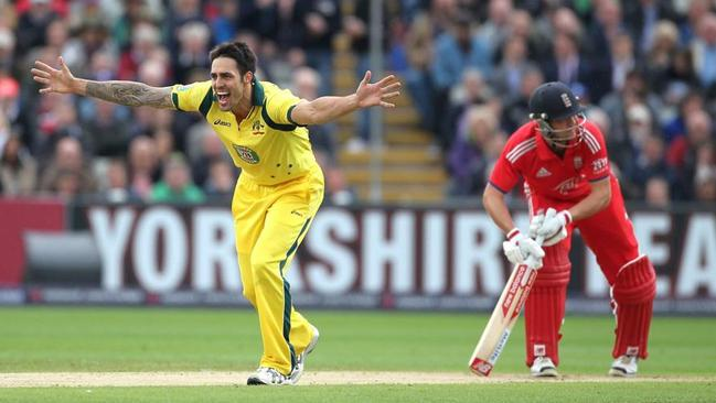 Johnson exposed Trott's problems with the short ball in the ODI series in England in 2013.