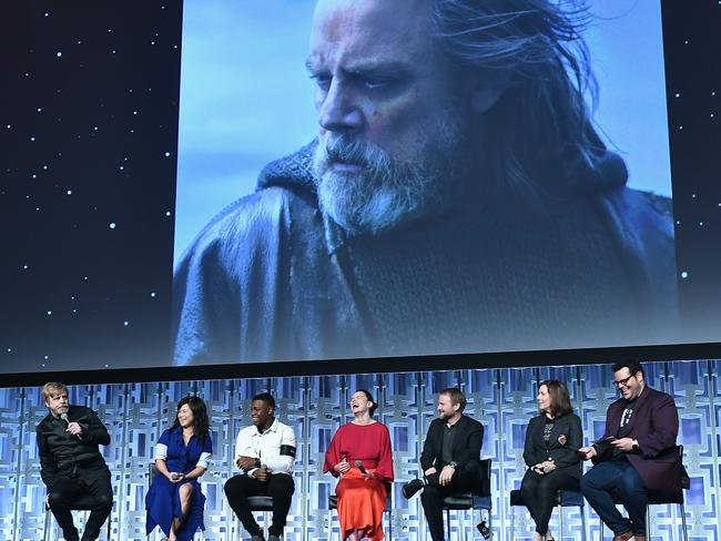 Key cast members on show at a Star Wars celebration day in Orlando, Florida over the weekend. Getty Images