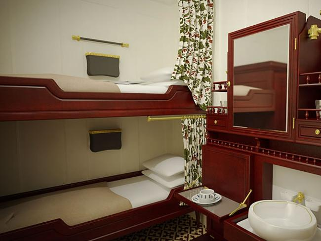'Third class cabin' on the new ship. Picture: Bluestarline.com.au