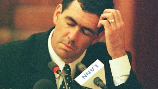 Former South African cricket captain Hansie Cronje testifies during the King Commission into his involvement in cricket match fixing.