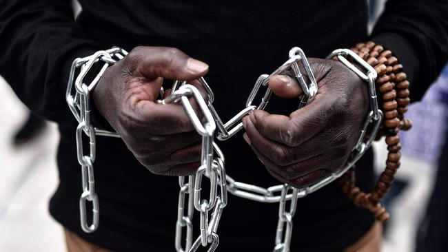 Slavery, an ugly relic of the past, is a reality in Libya. Picture: AFP Photo/Louisa Gouliamaki.