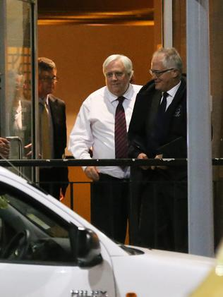 First date ... Clive Palmer and Malcolm Turnbull at the Wild Duck restaurant in May.