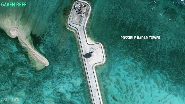 The military-grade capabilities will increase China's ability to patrol one of the world's most important shipping routes. Picture: CSIS Asia Maritime Transparency Initiative/DigitalGlobe