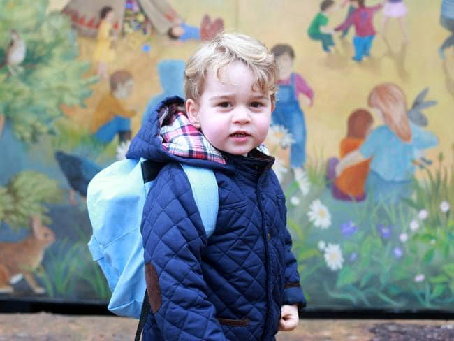 First day ... Prince George has started preschool. Picture: Duchess of Cambridge/PA Wire via Getty Images