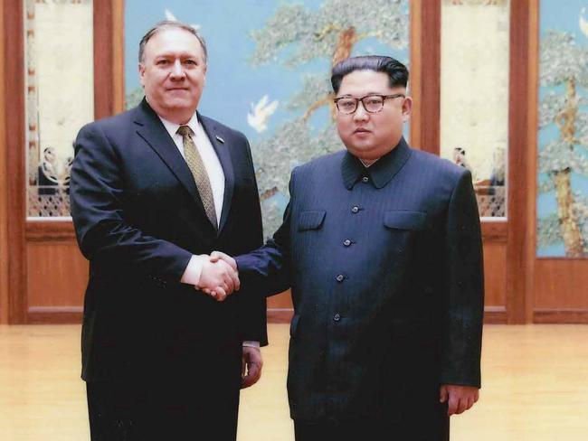 Mr Pompeo met with Kim over the Easter weekend. Picture: The White House/Getty Images
