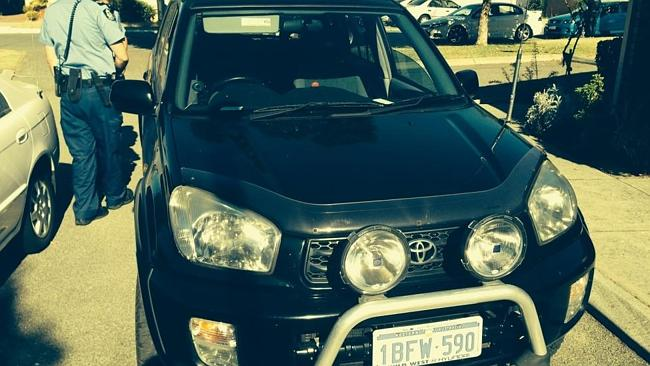 The Toyota Rav 4 allegedly stolen by Bradley John McIntosh-Narrier, a prisoner who escaped from Joondalup Hospital on Friday....