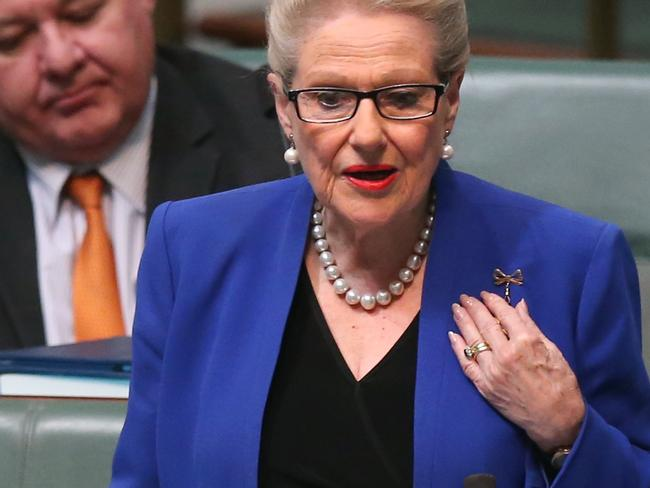 "Bronwyn Bishop stood down as Speaker after ""Choppergate"" revelations about her use of a taxpayer-funded helicopter. Picture Kym Smith"