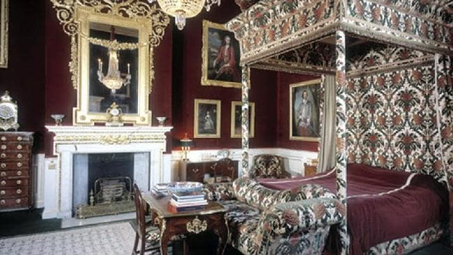 The late Princess Diana's bedroom at Althorp. Picture Supplied.