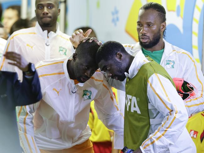Ivory Coast's Kolo Toure and Yaya Toure lost their brother Ibrahim to cancer just hours after their World Cup match against Colombia yesterday.