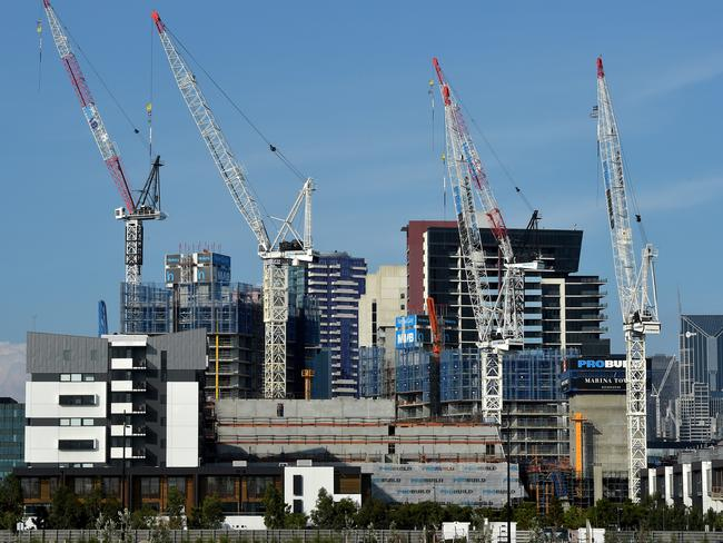 There's been an 82 per cent increase in high rise apartments in Melbourne since 2011, with a huge boom in the Docklands. Picture: Jay Town