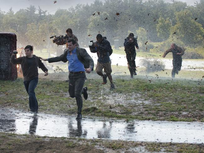 Running for their lives ... a scene from Into the Storm.