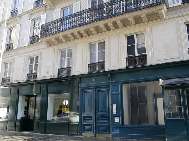 The apartment building near the Elysee Palace in Paris, where French President Francois Hollande had an affair with French actress Julie Gayet.