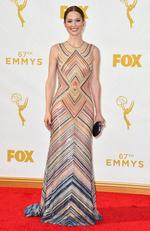 Ellie Kemper attends the 67th Annual Primetime Emmy Awards in Los Angeles. Picture: AP