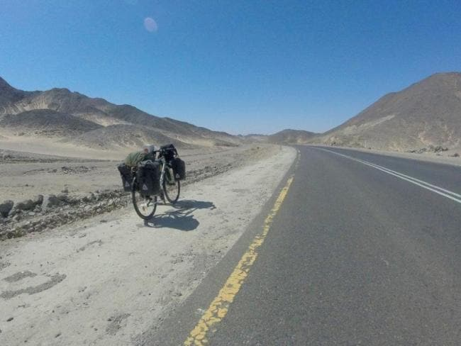 Not a soul in sight as Rebecca Lowe rides through Sudan. Photo: Rebecca Lowe